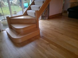 Oak wooden flooring sanded and lacquers